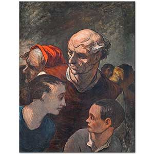 Honore Daumier On the Barricades Art Print