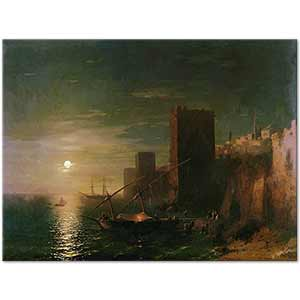 Ivan Aivazovsky A Lunar Night in Constantinople Art Print