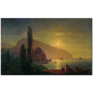 Ivan Aivazovsky A View at Crimean Coast Ayu Dag Art Print