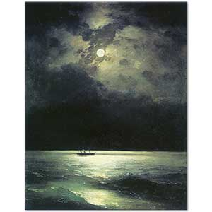 Ivan Aivazovsky Black Sea at Night Art Print
