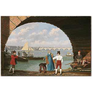 Jacques Laurent Agasse Landing at Westminister Bridge Art Print