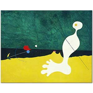 Joan Miro Person Throwing a Stone at a Bird Art Print