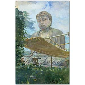 John la Farge The Great Statue of Amida Buddha at Kamakura Art Print