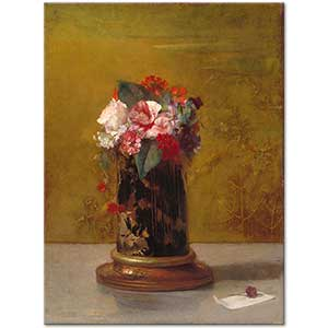 John la Farge Vase of Flowers Art Print