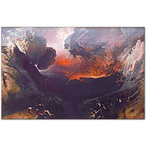 John Martin The Great Day of his Wrath Art Print