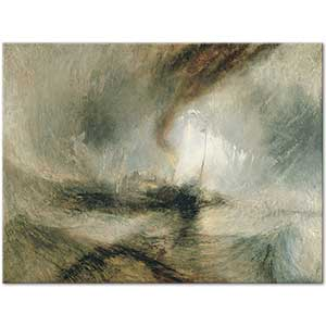 Joseph Mallord William Turner Steam Boat off a Harbours Mouth Art Print