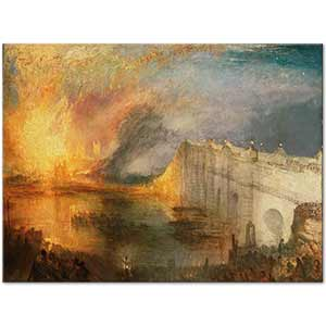 Joseph Mallord William Turner The Burning of the Houses of Lords and Commons Art Print