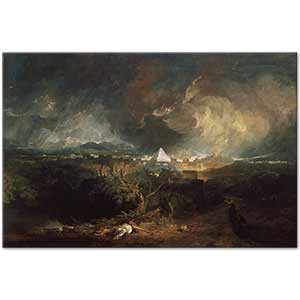Joseph Mallord William Turner The Fifth Plage of Egypt Art Print