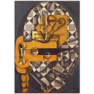 Juan Gris Guitar and Glasses Art Print