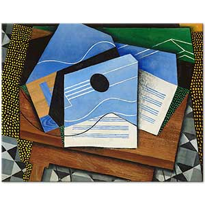 Juan Gris Guitar on a Table Art Print