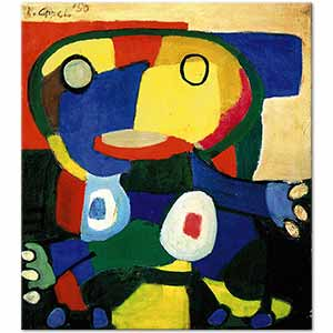 Karel Appel Big Chief Cobra Art Print