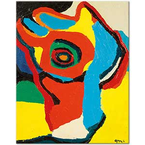 Karel Appel Parrot Head Art Print