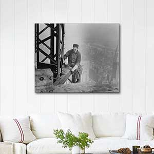 Lewis Hine Empire State Building Under Construction Art Print