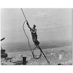 Lewis Hine Icarus Empire State Building Art Print
