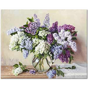 Lilacs in a Vase 01 Art Print