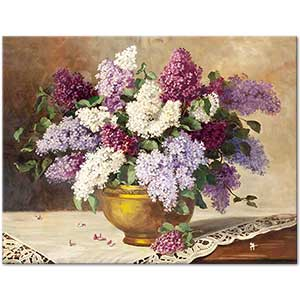 Lilacs in a Vase 02 Art Print