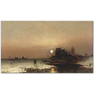 Ludwig Lanckow Under a Full Moon Art Print