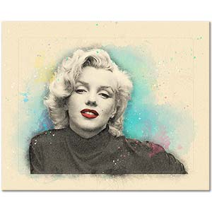 Marilyn Monroe Portrait Special Design Art Print