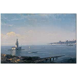 Mıgırdıç Givanian The Maiden Tower Istanbul Art Print