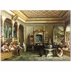 Mıgırdıç Givanian A Coffee House in Tophane Art Print