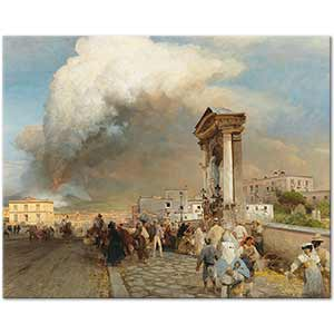 Oswald Achenbach The Eruption of Vesuvius Art Print