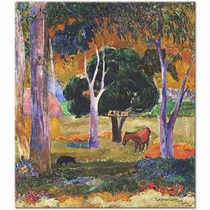 Paul Gauguin Landscape on the Island Dominic Art Print