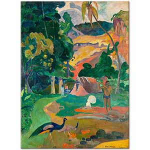 Paul Gauguin Landscape with Peacocks Art Print