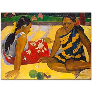 Paul Gauguin Parau Api Whats News Art Print