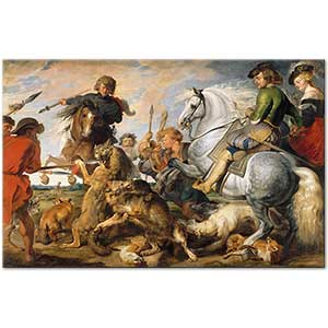 Peter Paul Rubens Wolf and Fox Hunt Art Print