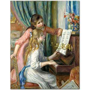 Pierre Auguste Renoir Two Young Girls at the Piano Art Print