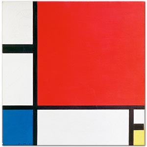 Piet Mondrian Composition No II in Red Blue and Yellow Art Print