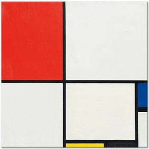 Piet Mondrian Composition No III with Red Blue Yellow and Black Art Print