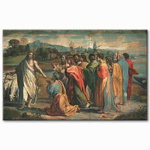 Raphael Christs Charge to Peter Art Print