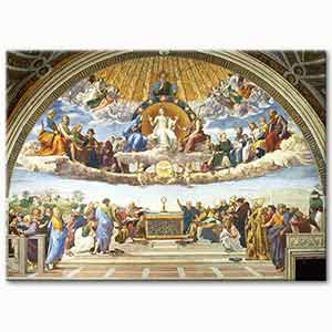 Raphael The Disputation of the Holy Sacrament Art Print