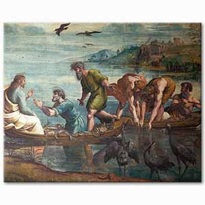 Raphael The Miraculous Draught os Fishes Art Print