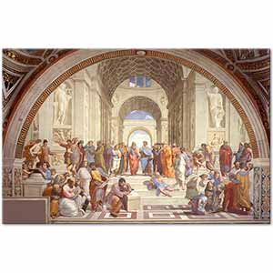 Raphael The School of Athens Art Print