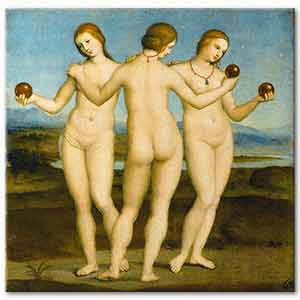 Raphael Three Graces Art Print