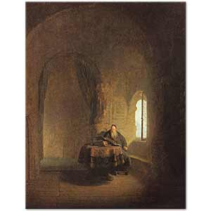 Rembrandt van Rijn Philosopher Reading Art Print
