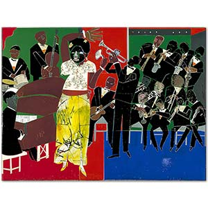 Romare Bearden Empress of the Blues Art Print