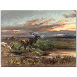 Rosa Bonheur The Call of the Stag Art Print