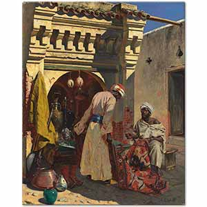 Rudolph Ernst Carpet Merchant Art Print