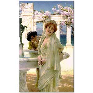 Sir Lawrence Alma Tadema Different Opinion Art Print