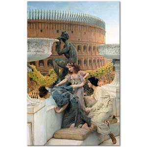 Sir Lawrence Alma Tadema The Colosseum Art Print