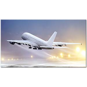Taking Off from the Airport Art Print