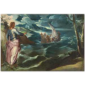Tintoretto Christ at the Sea of Galilee Art Print