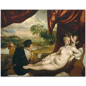 Titian Venus and the Lute Player Art Print