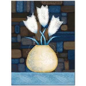 Tulips in a Yellow Vase Art Print