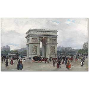 Ulpiano Checa y Sanz The Arc the Triomphe Paris Art Print