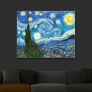 Vincent van Gogh The Starry Night Full Lighted Art Print