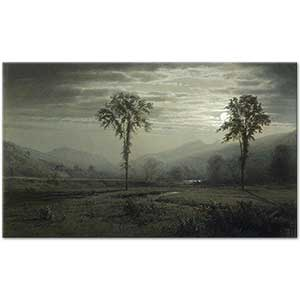 William Trost Richards Moonlight on Mount Lafayette Art Print